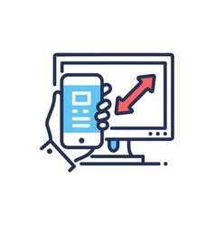 Responsive design - modern line design icon vector