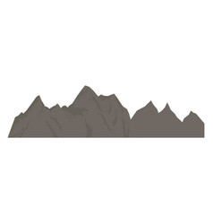 Rock mountain climbing nature silhouette vector