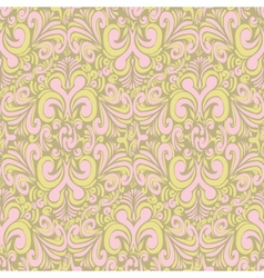 Seamless vintage bright green background vector image vector image
