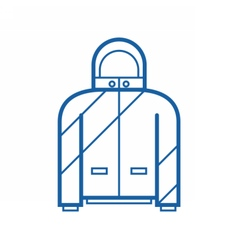 Sport jacket outline icon vector