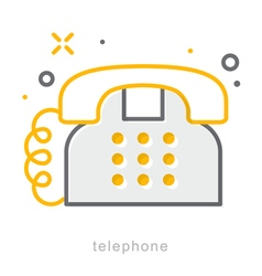 Thin line icons telephone vector