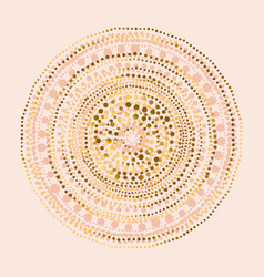 Tribal indian style abstract circle vector