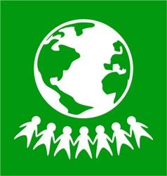 World peace symbol vector image