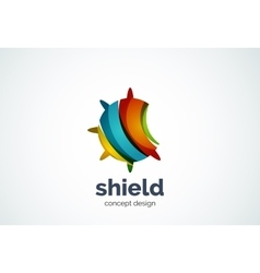 Round shield logo template security or safe vector image