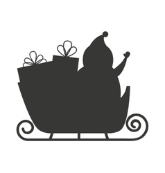 Carriage santa claus isolated icon vector