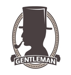 Gentlemens hipster icon logo badge vector