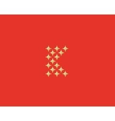 Stars letter k logotype luxury abc icon vector