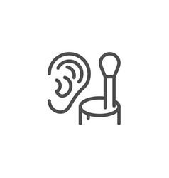 Cotton ear stick line icon vector