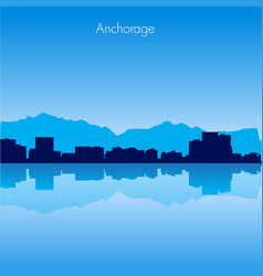Anchorage skyline vector