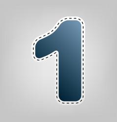 number 1 sign design template element vector image