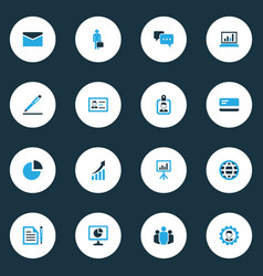 Job colorful icons set collection of dialog vector