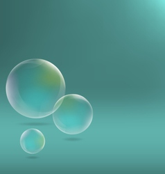 Soap bubbles on cyan vector