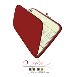 Electronic purse vector