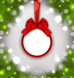 Celebration card with christmas wreath vector
