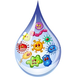 Cartoon of drop of dirty water vector