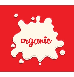 Milk splodge red background vector