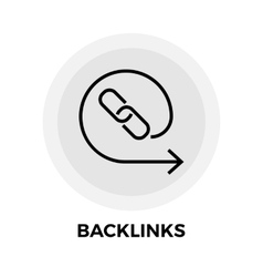 Backlinks Line Icon vector image