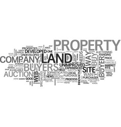 A sophisticated way to buy undeveloped land text vector