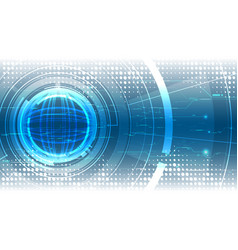 Abstract high technological interface background vector