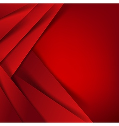 Abstract red background overlap layer and shadow vector image