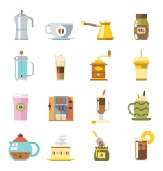 Appliances to Make Coffee Accessories Cup Glass vector image vector image