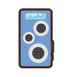 Audio speaker isolated icon vector