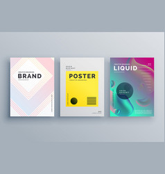 awesome minimal brochure template design set with vector image vector image