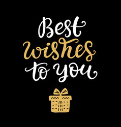 best wishes to you phrase christmas lettering vector image vector image