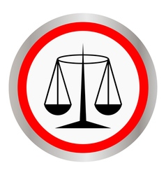 Black justice scale icon vector