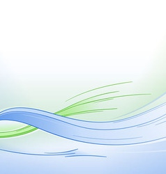 Blue and Green Waves Background vector image vector image