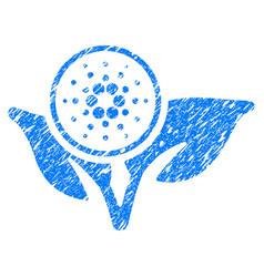 Cardano eco startup icon grunge watermark vector