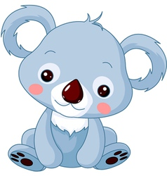 cartoon koala bear vector image vector image