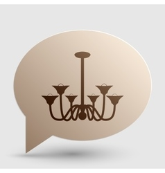 Chandelier simple sign Brown gradient icon on vector image vector image