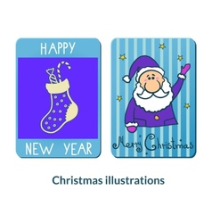 Chrismas labeles set vector image