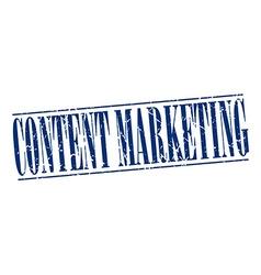 Content marketing blue grunge vintage stamp vector