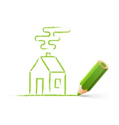 Green house sketch vector image vector image
