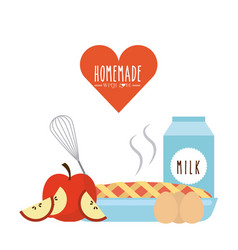 Homemade with love design vector
