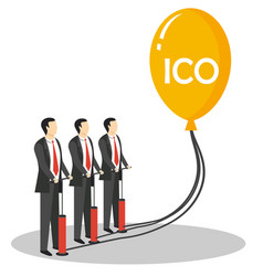 initial coin offering concept vector image vector image