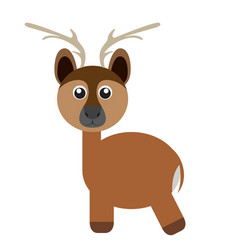 Isolated cute deer vector