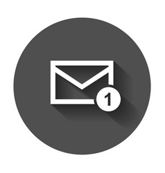 Mail envelope message icon mail in flat style vector