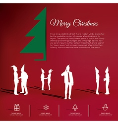 Modern infographic new year project vector image