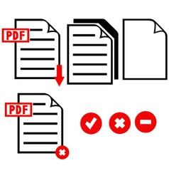 PDF icon vector image vector image