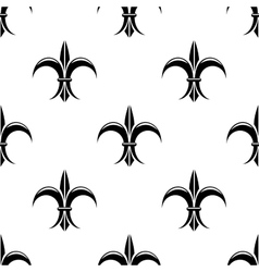 Retro seamless pattern with french fleur de lys vector