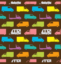 Retro truck seamless pattern vector