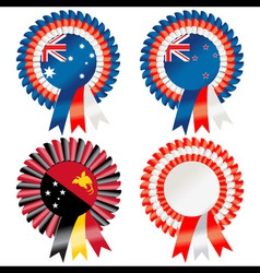 rosettes to represent australasia including austra vector image vector image