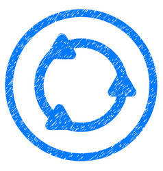 Rotate rounded grainy icon vector