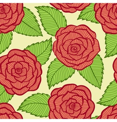 Seamless pattern in roses and leaves lace vector