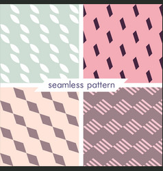 set of four seamless geometrical patterns 15 vector image