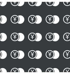 Straight black yen coin pattern vector