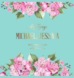 The wedding invitation vector
